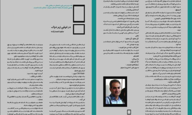 در تنهاييِ زير دوك – سعید احمدزاده